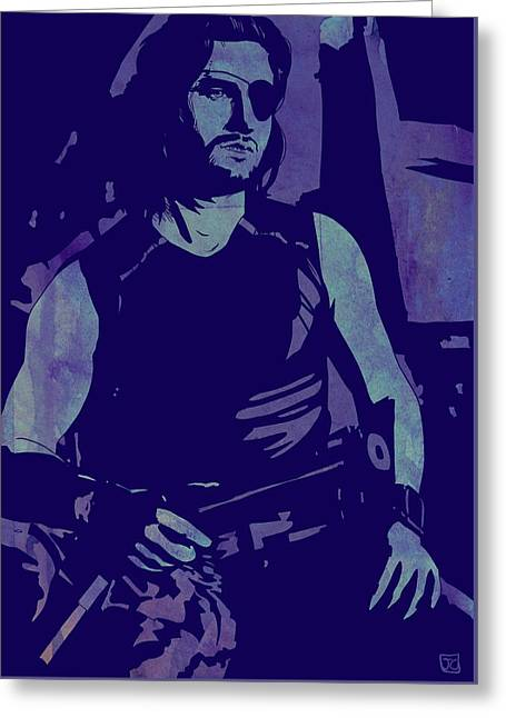 Plissken Greeting Card by Giuseppe Cristiano
