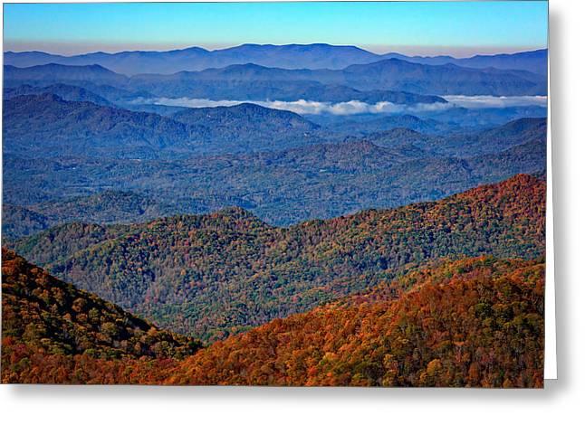 Plott Balsam Overlook In Autumn Greeting Card by Rick Berk