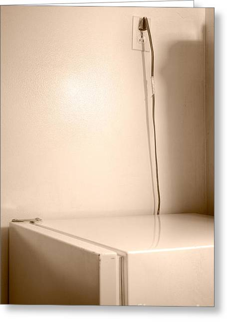 Electrical Plug Greeting Cards - Plugged In Greeting Card by Royce Howland