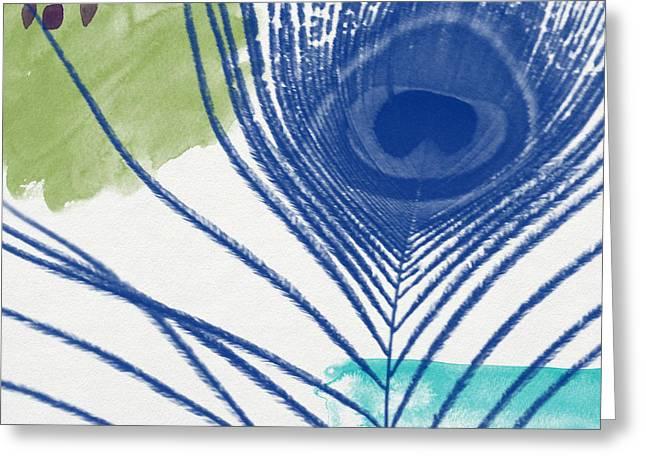 Plumage 3- Art By Linda Woods Greeting Card by Linda Woods