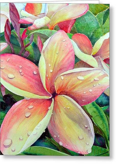 Plumeria Greeting Cards - Plumeria Greeting Card by Jerri Grindle
