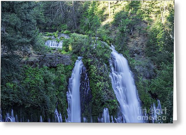 Water Flowing Greeting Cards - Plunging River Greeting Card by Nancy Marie Ricketts
