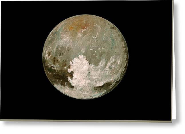 Pluto Planet  Greeting Card by Juan  Bosco