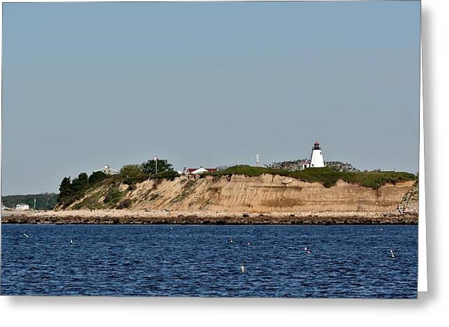 Ma Pyrography Greeting Cards - Plymouth Bluffs Greeting Card by Calvin Nelson
