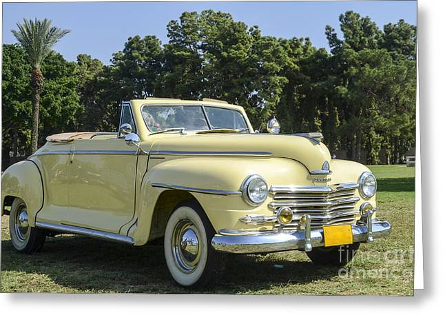 1949 Plymouth Greeting Cards - Plymouth convertible  Greeting Card by Amir Paz