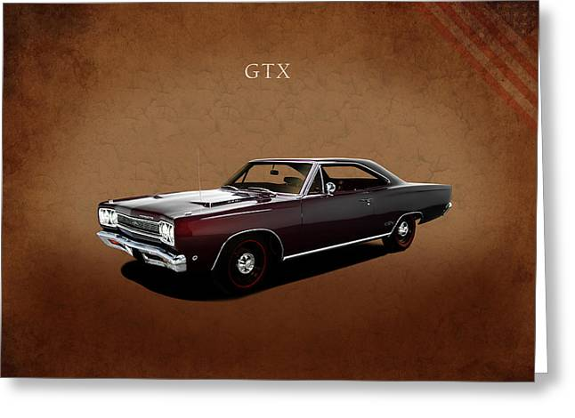 Plymouth Greeting Cards - Plymouth GTX 1968 Greeting Card by Mark Rogan