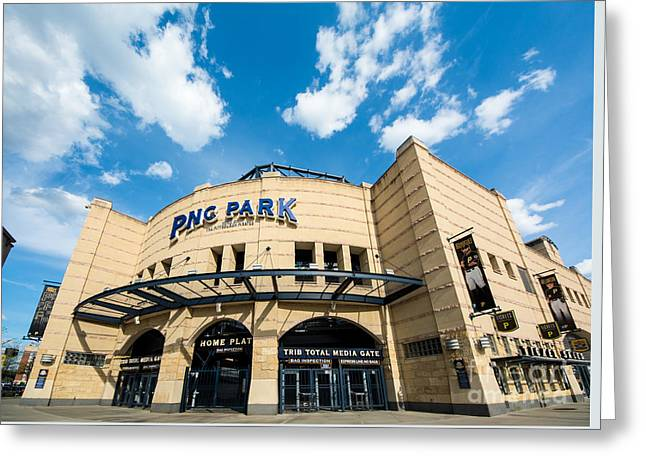 Pnc Park Pittsburgh Pennsylvania Greeting Card by Amy Cicconi
