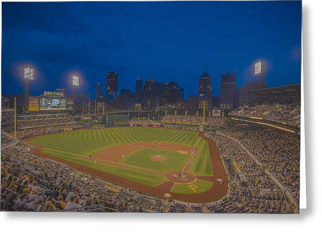 Baseball Photographs Greeting Cards - PNC Park Pittsburgh Pirates C Greeting Card by David Haskett