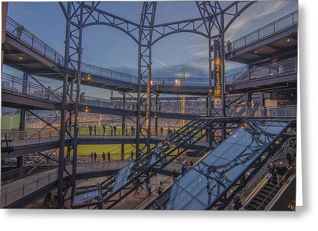 Pnc Park Pittsburgh Pirates D Greeting Card by David Haskett