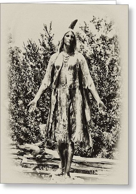 Indian Princess Greeting Cards - Pocahontas Greeting Card by Bill Cannon