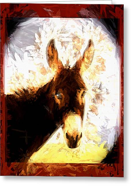 Digipho333 Studio Greeting Cards - Poco The Brave Little Burro Greeting Card by Shannon Story