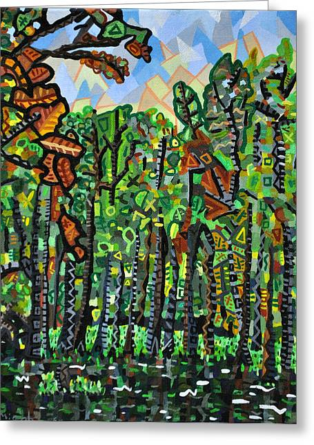 Wildlife Refuge. Paintings Greeting Cards - Pocosin Lakes Wildlife Refuge Greeting Card by Micah Mullen