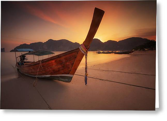 Sunday Picnic Greeting Cards - Poda island Greeting Card by Anek Suwannaphoom