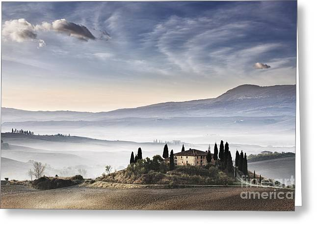 World Heritage Site Greeting Cards - Podere Belvedere 3 Greeting Card by Rod McLean