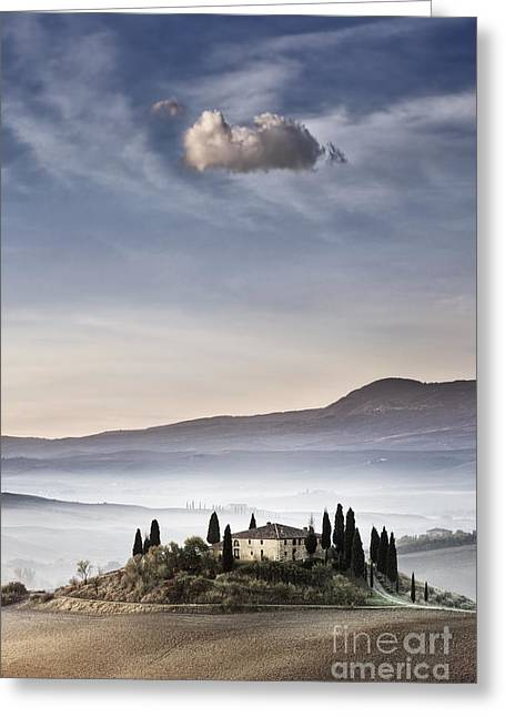 Belvedere Greeting Cards - Podere Belvedere 4 Greeting Card by Rod McLean