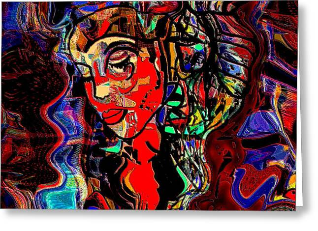 Poetry Music And Art Greeting Card by Natalie Holland
