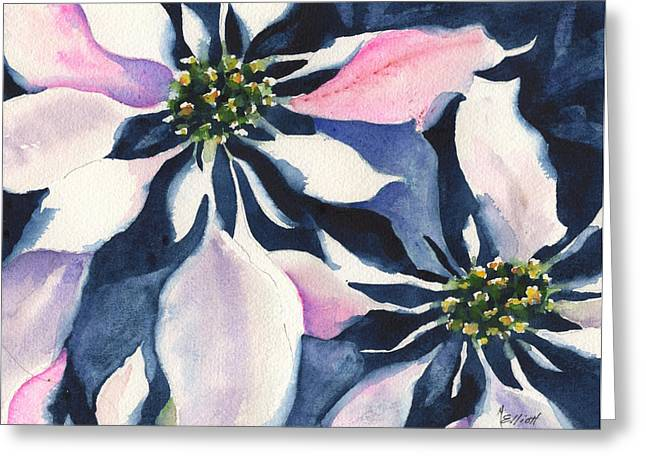 Poinsettia Greeting Card by Marsha Elliott