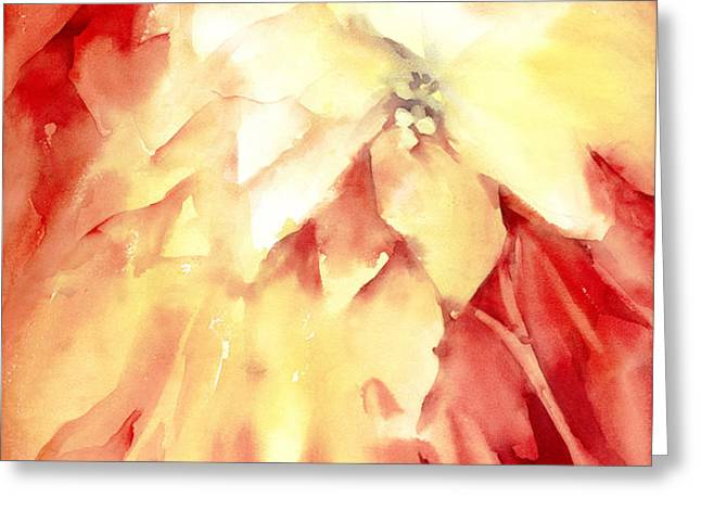 Poinsettias Greeting Card by Joan  Jones