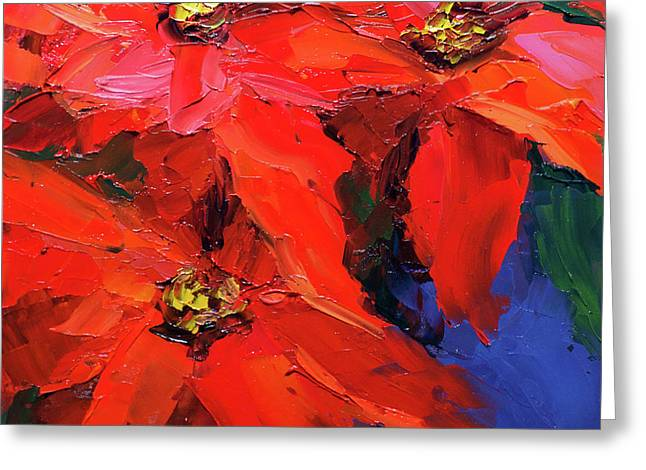 Poinsettias Greeting Card by Mike Moyers