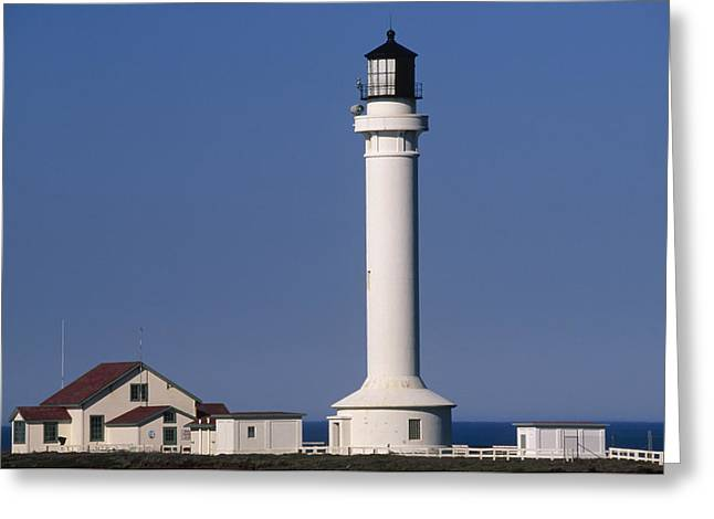 Point Arena Lighthouse Greeting Card by Soli Deo Gloria Wilderness And Wildlife Photography