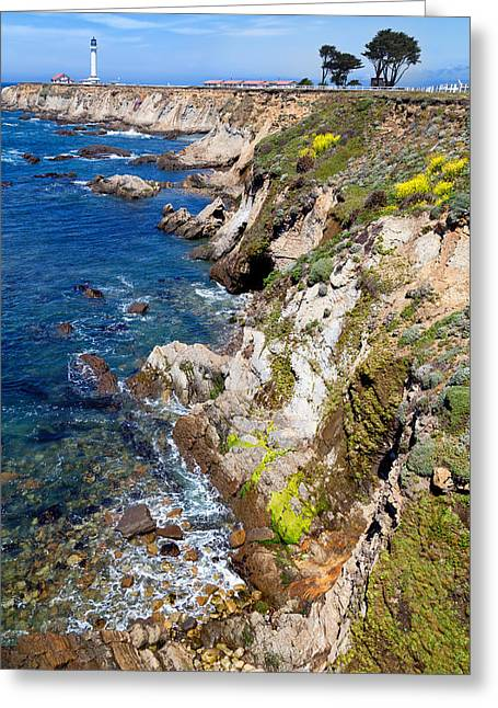 California Beaches Greeting Cards - Point Arena Lighthouse Spring Greeting Card by Kathleen Bishop