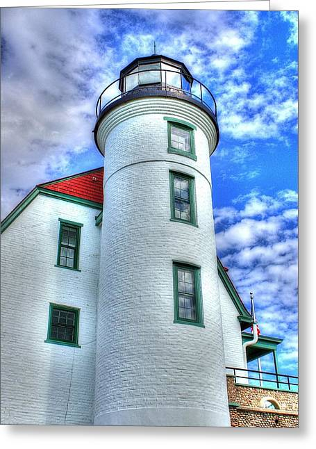 Randy Greeting Cards - Point Betsie Light Greeting Card by Randy Pollard