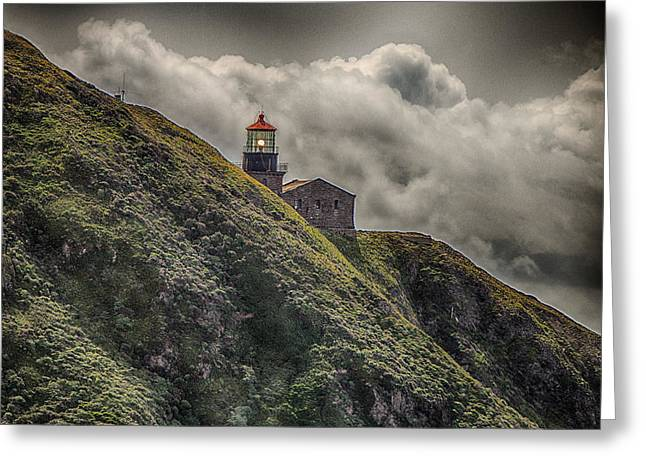 Big Sur Beach Greeting Cards - Point Big Sur Lighthouse Greeting Card by Ken Kobe