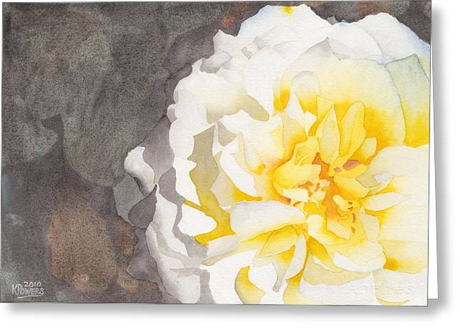 Point Defiance White Flower Greeting Card by Ken Powers