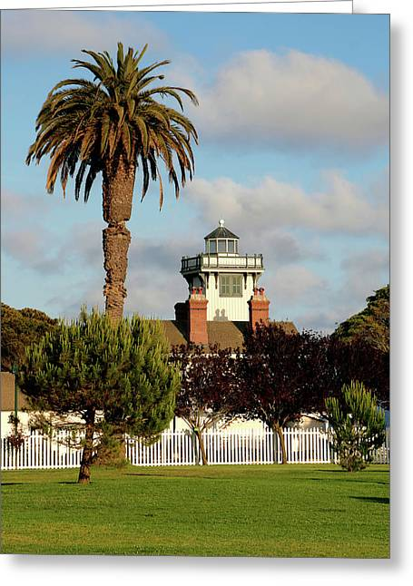 Highway Greeting Cards - Point Fermin Light - San Pedro - Southern California Greeting Card by Christine Till
