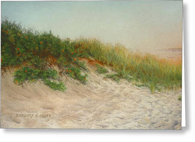 Point Judith Dunes Greeting Card by Barbara Groff