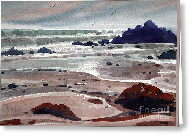 Points Paintings Greeting Cards - Point Lobos Greeting Card by Donald Maier
