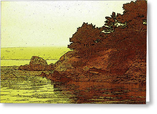 Point Lobos Greeting Cards - Point Lobos Fog Greeting Card by Hal Bohner