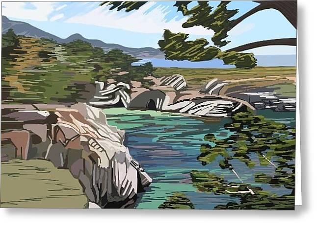 Point Lobos Greeting Card by Illona Battaglia Aguayo