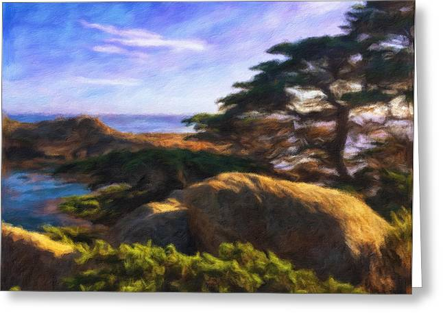 Summer Storm Greeting Cards - Point Lobos Greeting Card by Jonathan Nguyen