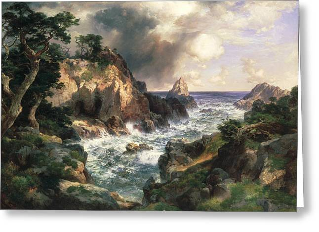 Point Lobos Monterey California Greeting Card by Thomas Moran