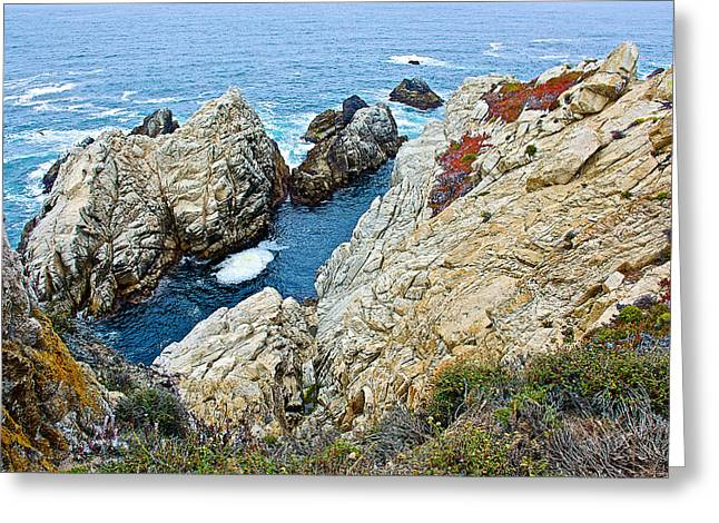 Point Lobos Greeting Cards - Point Lobos State Reserve near Monterey-California Greeting Card by Ruth Hager