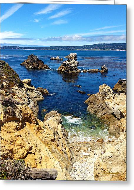 California Ocean Photography Paintings Greeting Cards - Point Lobos Whalers Cove- seascape art Greeting Card by Kathy  Symonds