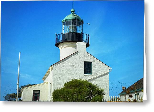 Point Loma Lighthouse - San Diego Greeting Card by Glenn McCarthy Art and Photography