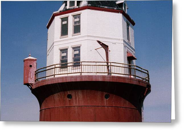 Point No Point Lighthouse Chesapeake Bay Maryland Greeting Card by Wayne Higgs