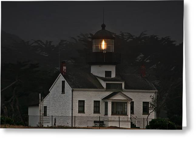 Point Pinos Lighthouse CA Greeting Card by Christine Till