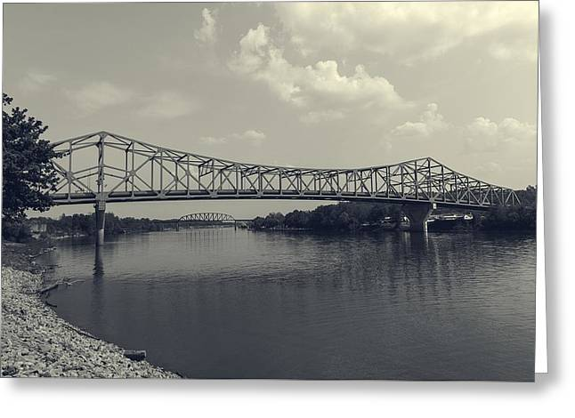Point Pleasant Greeting Cards - Point Pleasant - Henderson Bridge - West Virginia Greeting Card by Mountain Dreams