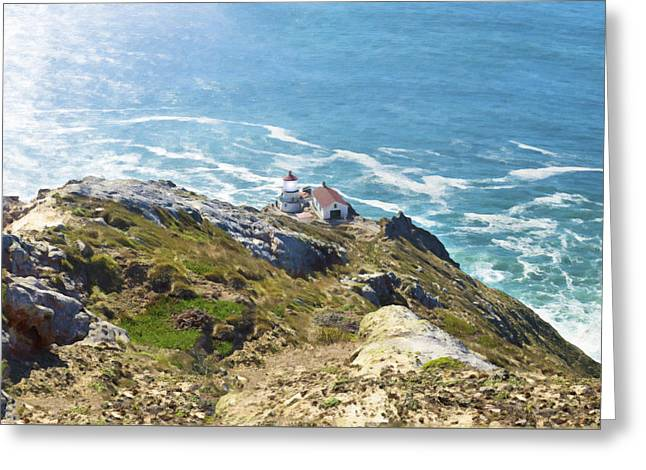 Marin County Digital Art Greeting Cards - Point Reyes Light Greeting Card by Stan Angel