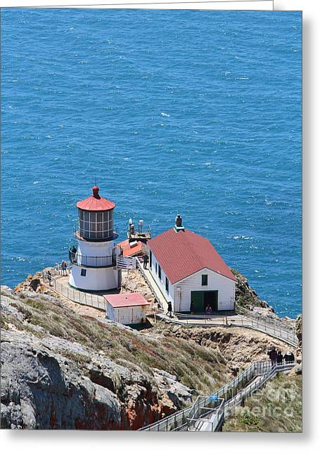 Point Reyes Lighthouse In California 7d15975 Greeting Card by Wingsdomain Art and Photography