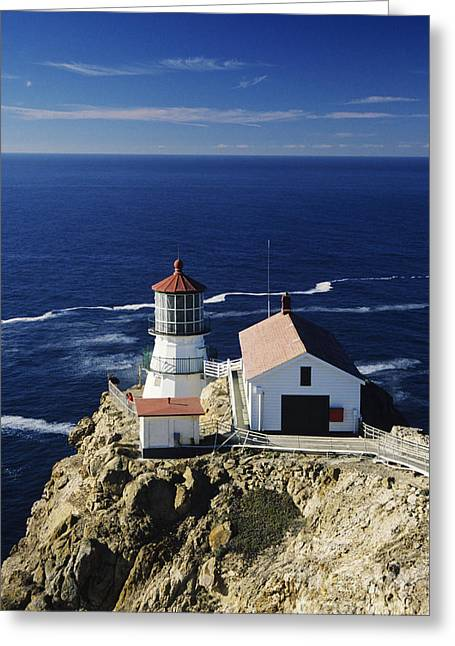 Howell Greeting Cards - Point Reyes Lighthouse Greeting Card by Michael Howell - Printscapes