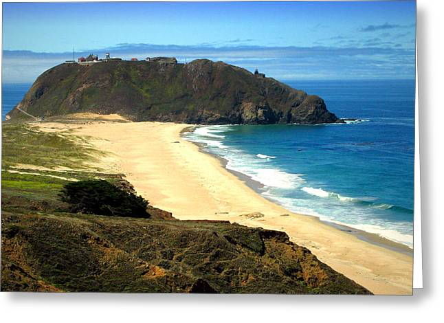 Big Sur Beach Greeting Cards - Point Sur II Greeting Card by Joyce Dickens