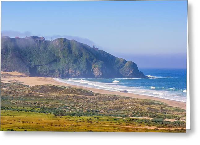 Big Sur Greeting Cards - Point Sur Greeting Card by Joseph S Giacalone