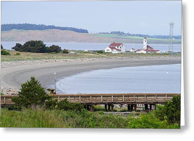Townsends Inlet Greeting Cards - Point Wilson Lighthouse Greeting Card by Shirley Stevenson Wallis