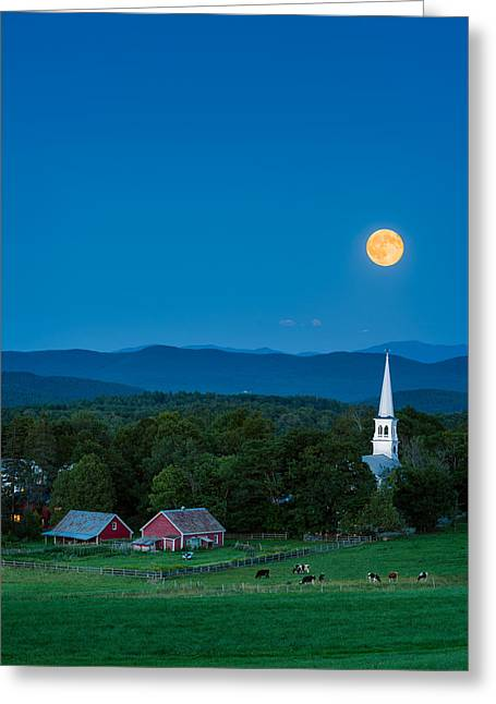 Moonrise Greeting Cards - Pointing at the Moon Greeting Card by Michael Blanchette