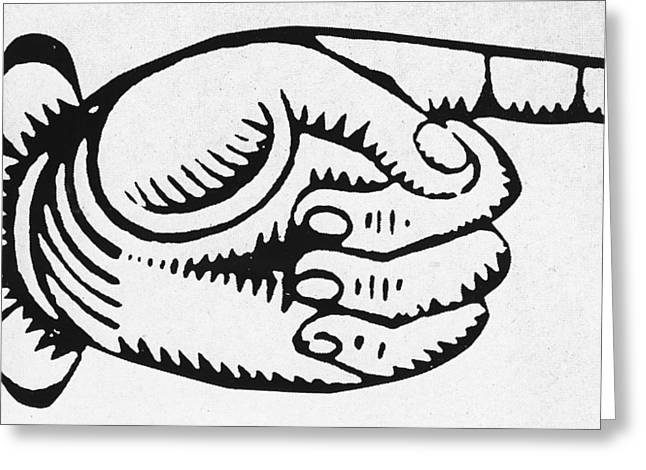 Pointing Finger Greeting Card by English School