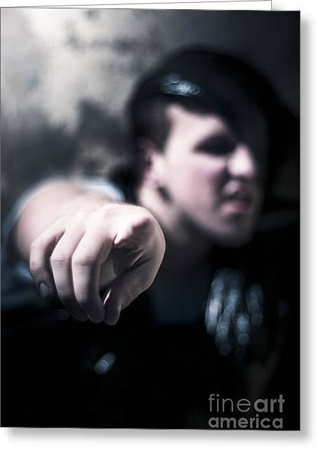 Pointing Out Of The Shadows Of Darkness Greeting Card by Jorgo Photography - Wall Art Gallery